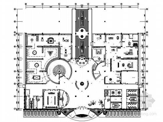 [浙江]高端厨具品牌现代风格办公大楼室内设计装修施工图(含方案)