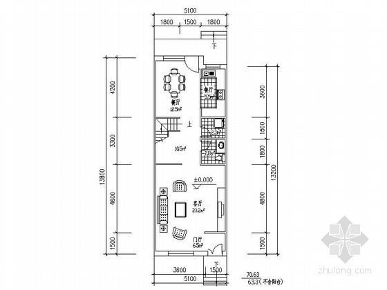 某三层联排别墅平面图(南入口,175平方米)母别墅房价照重庆山图片