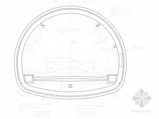端墙式洞门隧道设计图纸44张(锚喷支护)