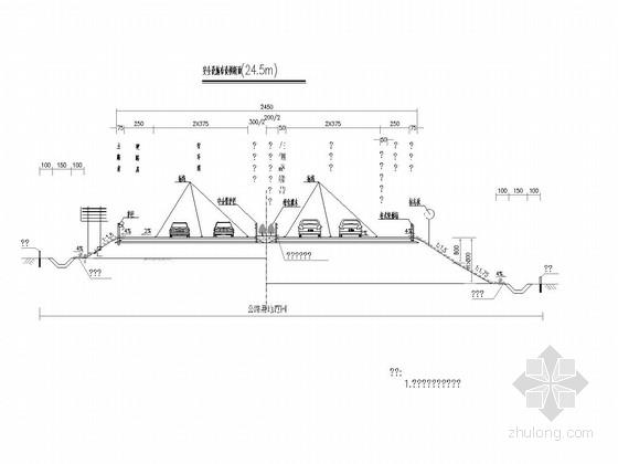 [江苏]绕城一级公路交通安全设施施工图全套274张(标志标线护栏门架)