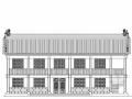 双层硬山式方丈室古建筑方案图