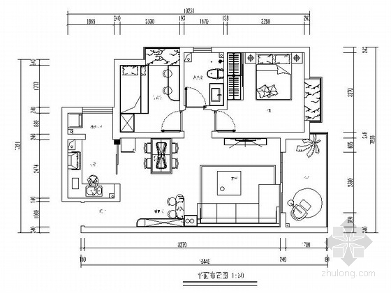 [无锡]文明社区简约现代两室两厅设计装修图(含效果)