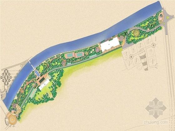 [成都]法国新古典主义风格滨河公园景观改造工程设计方案