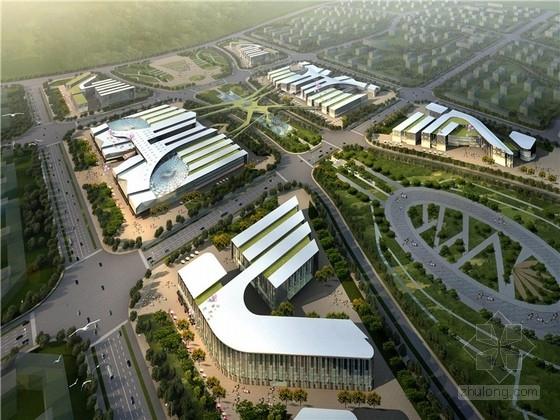 """[内蒙古]现代风格""""雄鹰""""核心商业区建筑群方案设计(知名设计院)"""