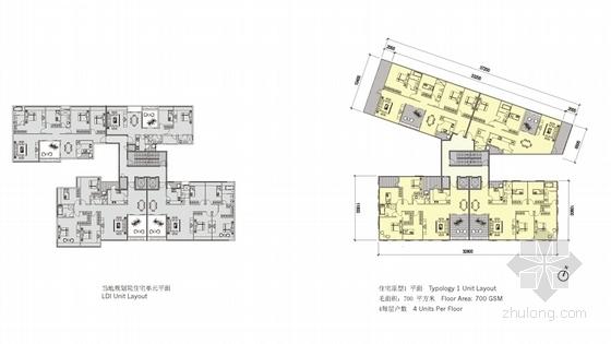 [深圳]沿海新区超高层城市中心总体规划设计方案文本-沿海新区超高层城市中心各层平面图
