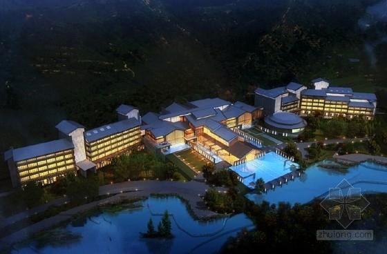 [江西]中式风格禅意温泉度假区规划设计方案文本-中式风格禅意温泉度假区效果图