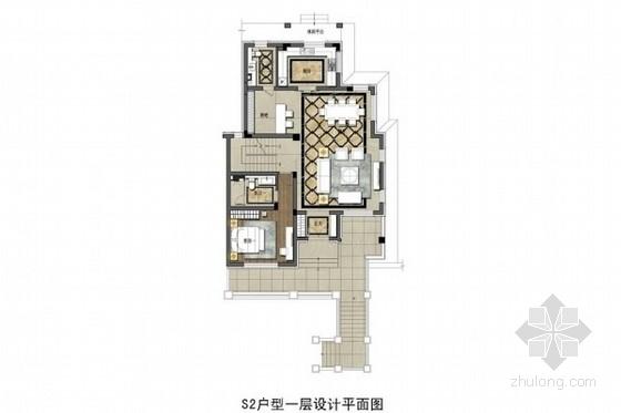 [沈阳]都市田园风情花园洋房双层别墅深化设计方案