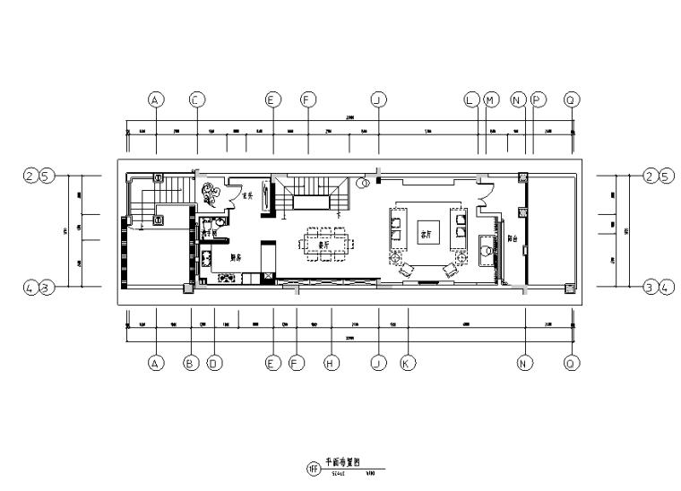 [广东]东大亚湾天下联排别墅设计施工图(附效果图)