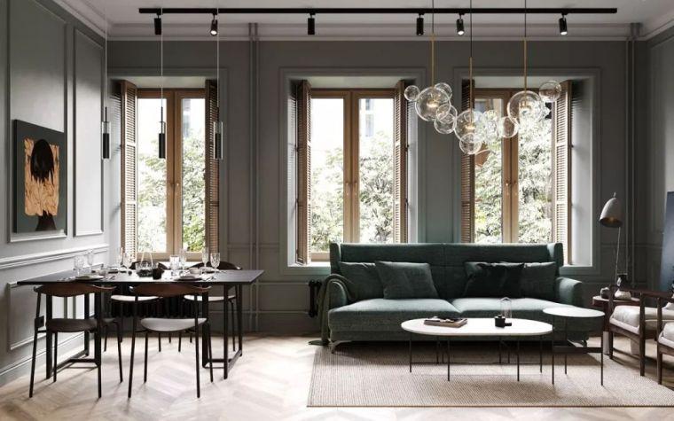 74平米莫兰迪色小户型 室内设计自带高级感