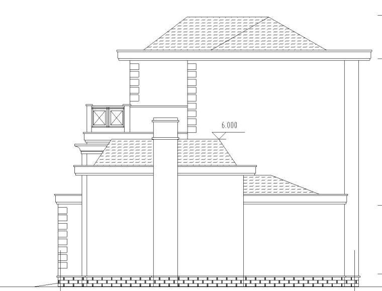 现代风格独栋别墅建筑设计(CAD+效果图)