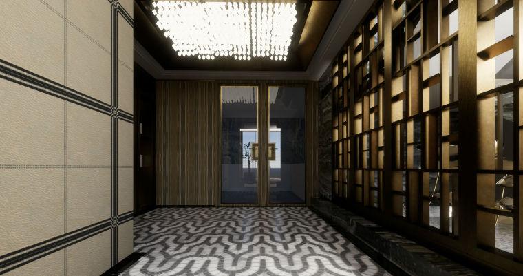 豪华loft室内设计客餐厅模型设计(2018年)-X 12