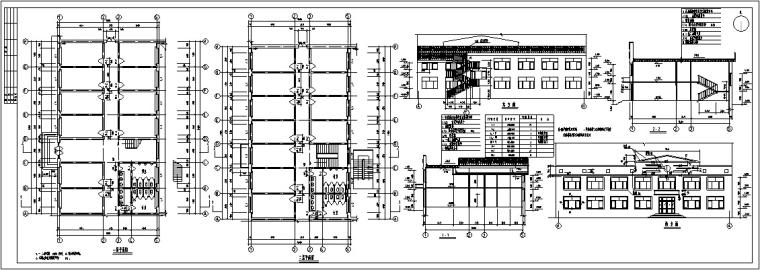 欧式多层沿街商铺建筑设计方案初设图CAD-5