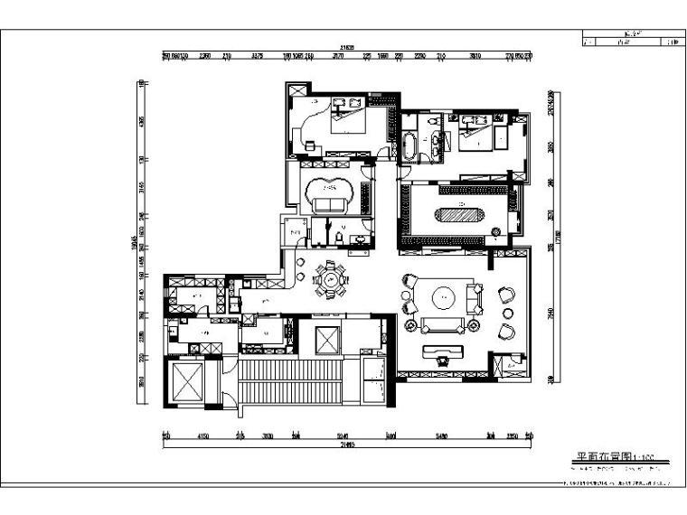 [成都]简欧轻奢精品三居装修设计施工图(含实景图)