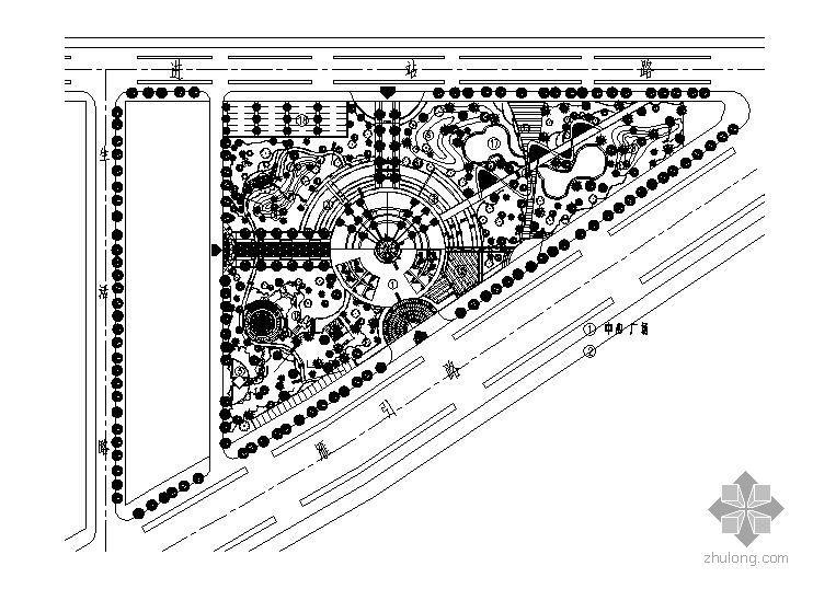 西安某公园景观绿化施工图