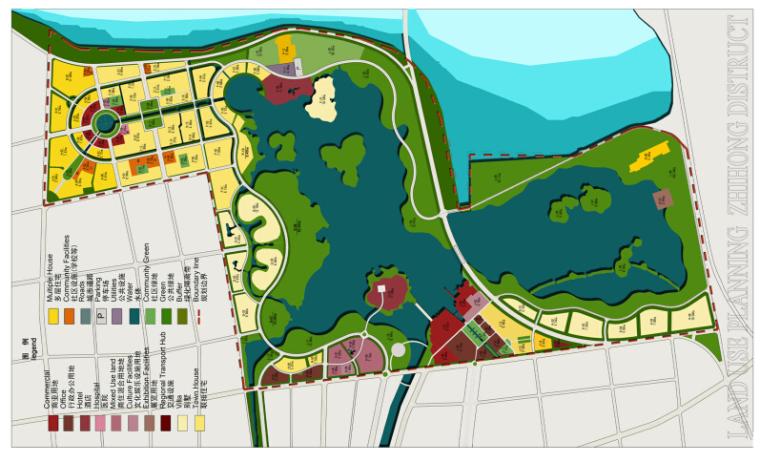 [山东]滞洪区景观概念性规划文本(知名设计公司)-总平面图