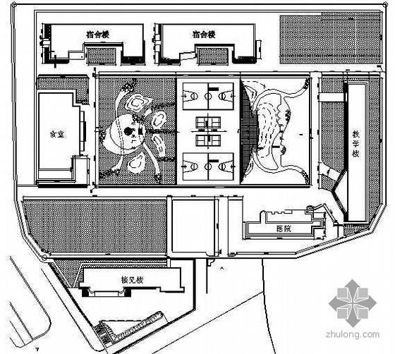 湖北恩施某监狱环境绿化工程竣工图