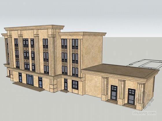 欧式大气建筑SketchUp模型下载