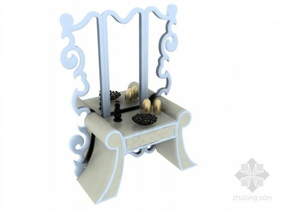 欧式家具模型资料下载-时尚欧式家具3D模型下载