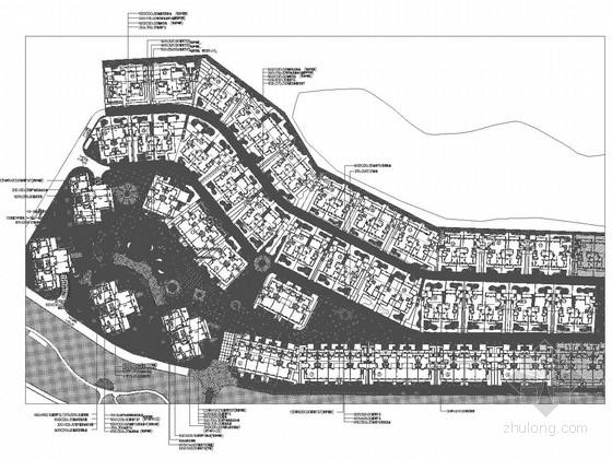 [厦门]城市高档高尔夫小区景观设计施工图
