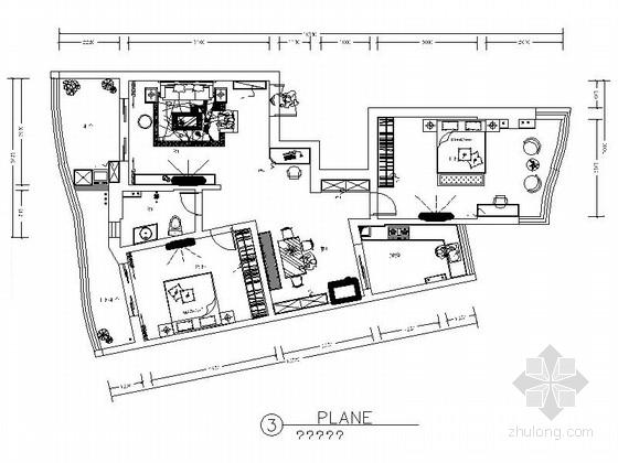 精品现代简约风格三居室室内装修施工图