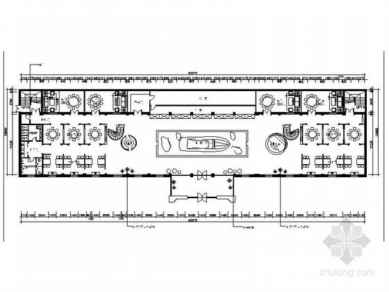 [新疆]2000平海洋主题餐厅室内装修施工图(含实景效果图)