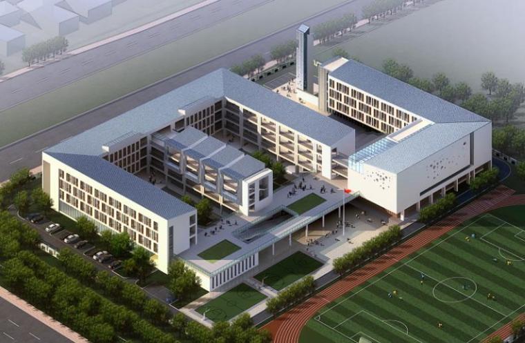 [南京]现代感坡屋面中小学及高中建筑设计方案文本