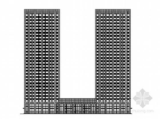 [大连]某二十九层办公大楼外立面装饰建筑施工图