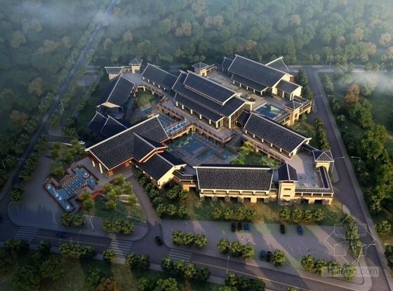 [武汉]两层传统中式风格高档休闲场所接待中心建筑设计方案文本