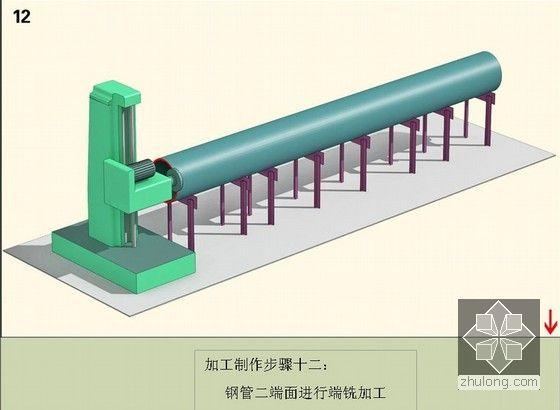 钢管二端面进行端铣加工