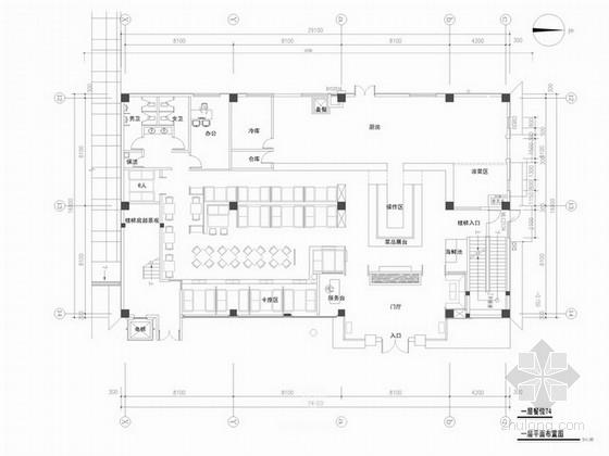 [山东]中国风双层餐厅室内设计方案