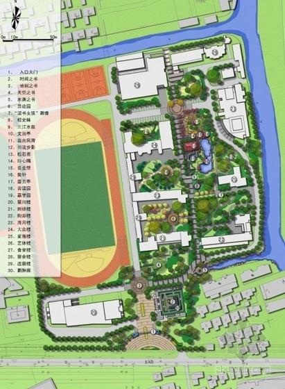 [上海]中学校园改建景观设计方案