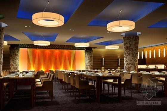 [江苏]历史文化名城高档现代风格星级宾馆装修施工图(含效果)dwg .zip餐厅效果图