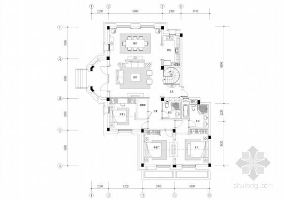 精品法式风格两层别墅样板房室内装修施工图