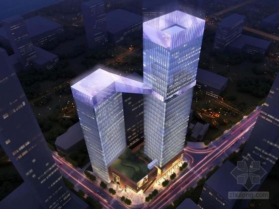 [重庆]超高层双塔商业综合体建筑设计方案文本(造型独特 推荐参考)