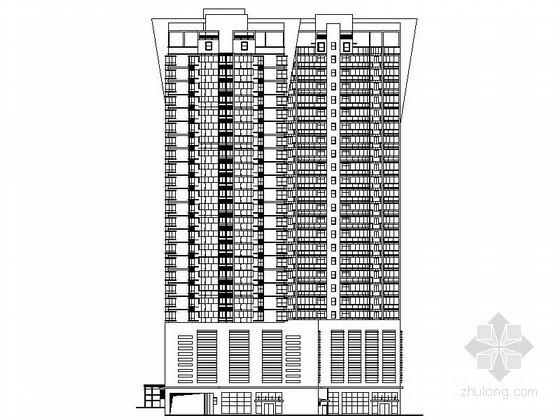 [长沙]某二十四层商住楼建筑施工图