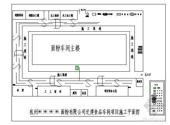 杭州某面粉厂食品车间施工组织设计