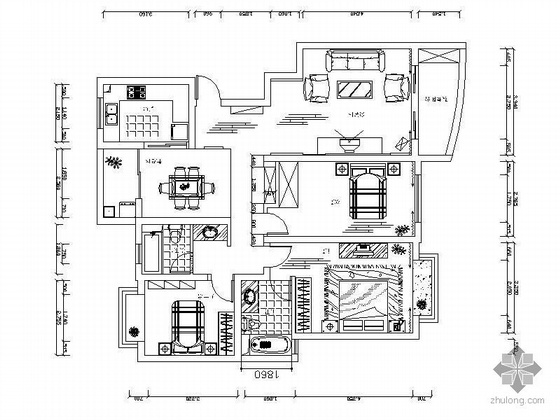三室两厅设计图(含效果及实景)
