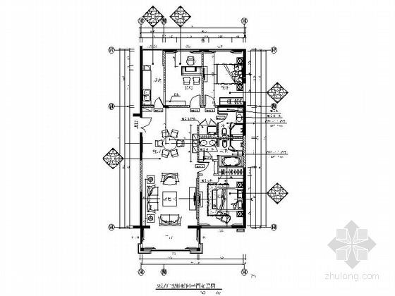 [北京]三环内国际公寓现代三居室室内装修图(含效果)