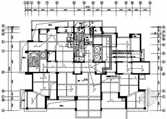 [海南]度假区A型高层住宅电气图纸