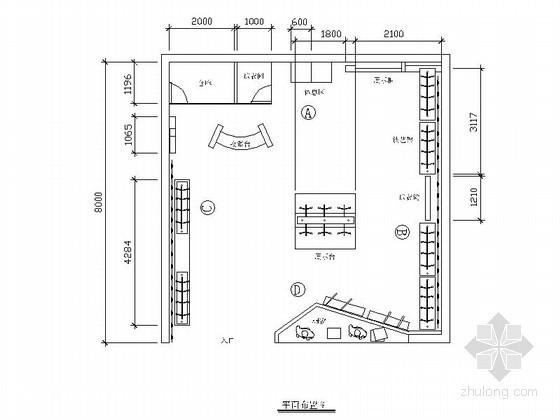 64平方服装店内装修图