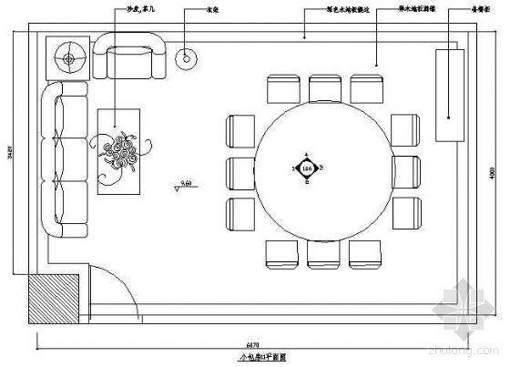 餐厅包房平面布置图1