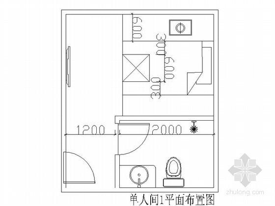 [成都]某洗浴中心单间装修图