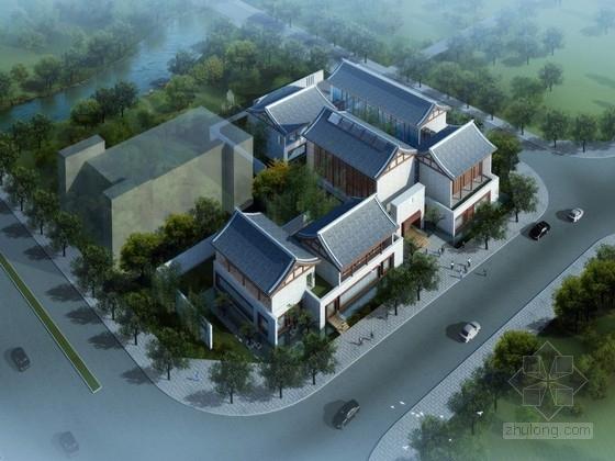 [河南]中式风格水系艺术馆建筑方案文本(含CAD PPT)