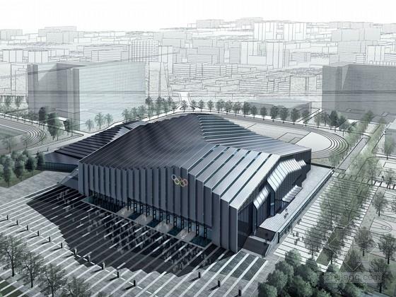 [北京]知名大学奥运会摔跤比赛馆设计方案文本(含CAD 多媒体 顶尖设计院)