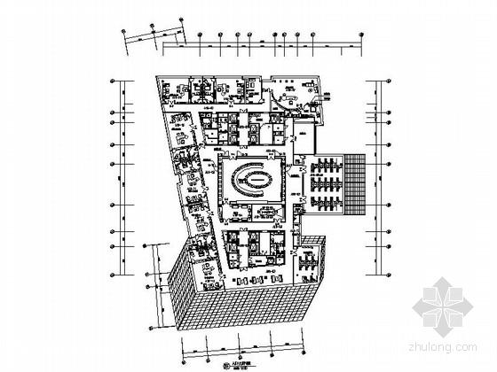 [吉林]广电中心企业办公楼室内装修施工图(含实景图)
