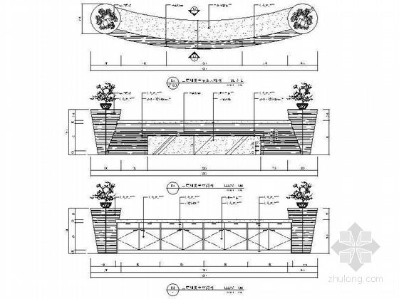 [江苏]历史文化名城高档现代风格星级宾馆装修施工图(含效果)服务台立面图