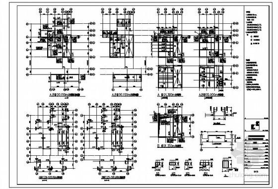 某剪力墙住宅出屋面及水箱间节点构造详图