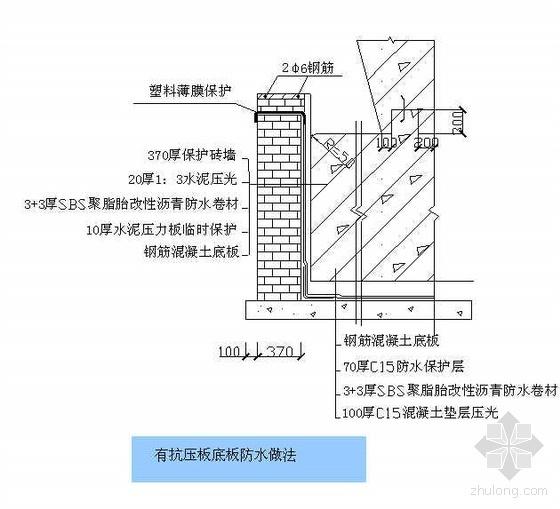 北京某高层酒店地下水防水施工方案(聚脂胎SBS改性沥青防水卷材)