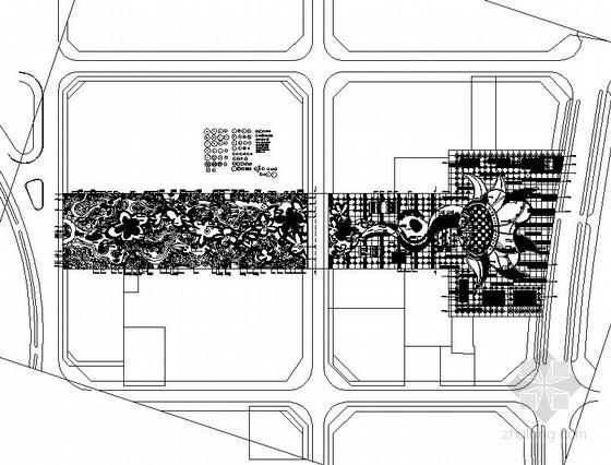 [重庆]县城文化广场景观工程施工总图设计