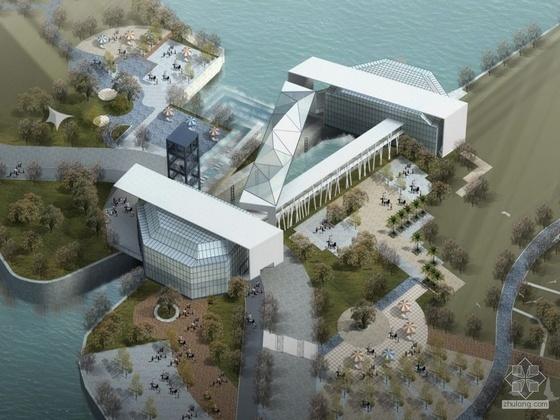 [杭州]某奥体博览中心某闸建筑方案文本、动画